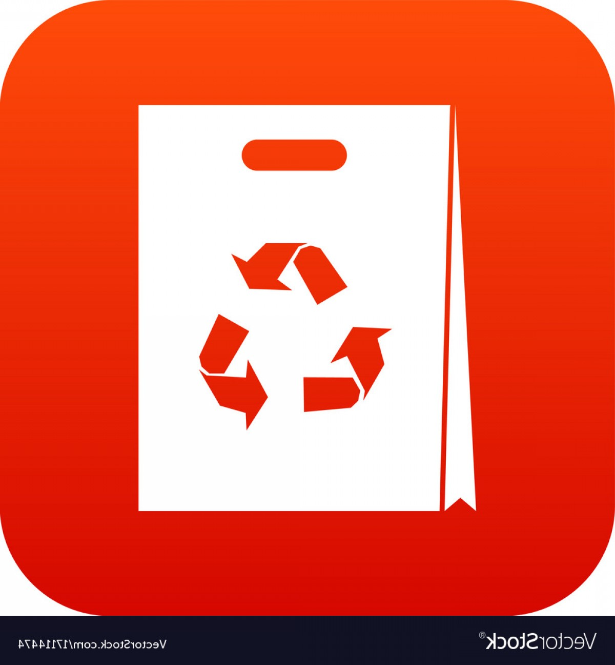 Recycle Icon Vector Red: Package Recycling Icon Digital Red Vector