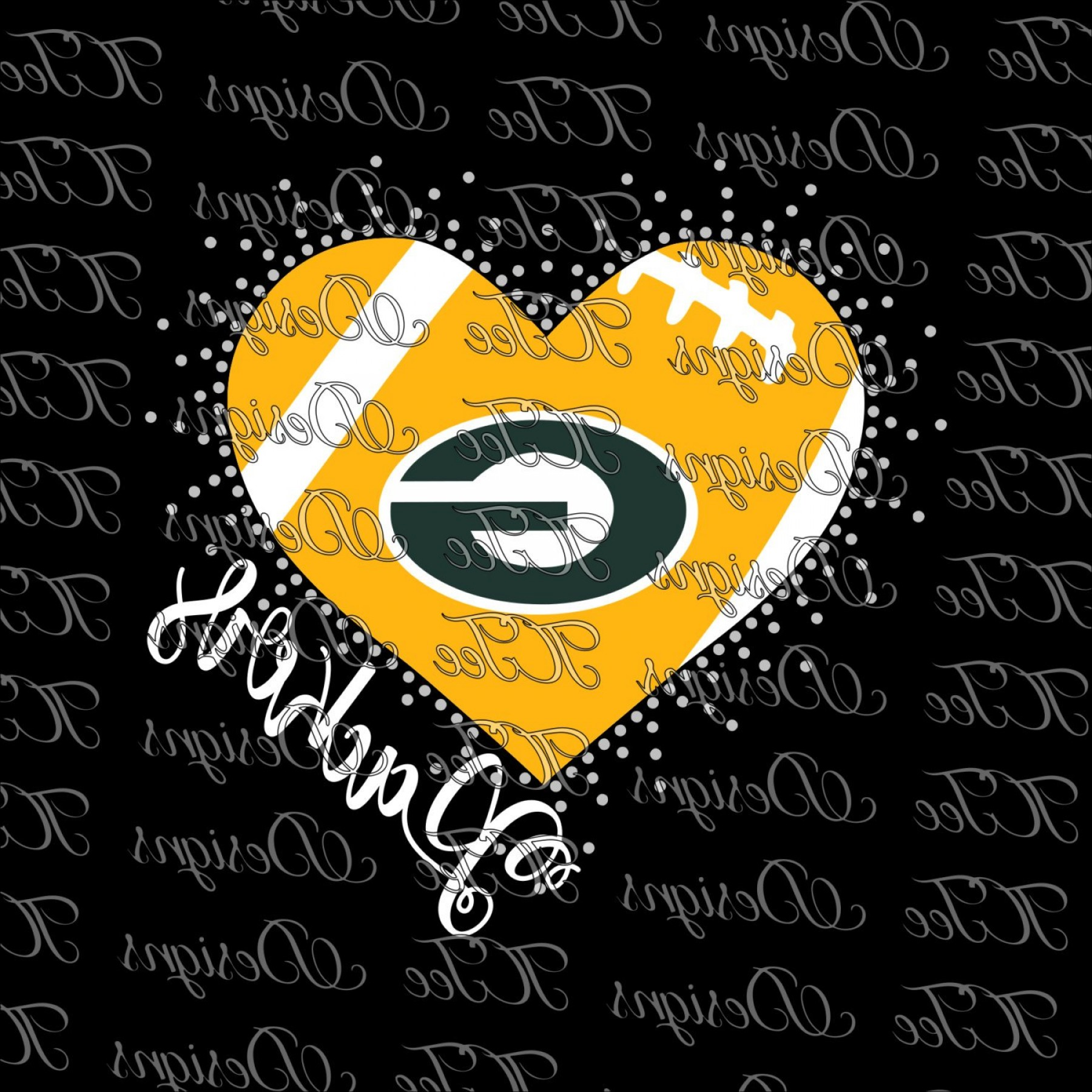 Green Bay Vector: Packers Heart Green Bay Packers Mixed