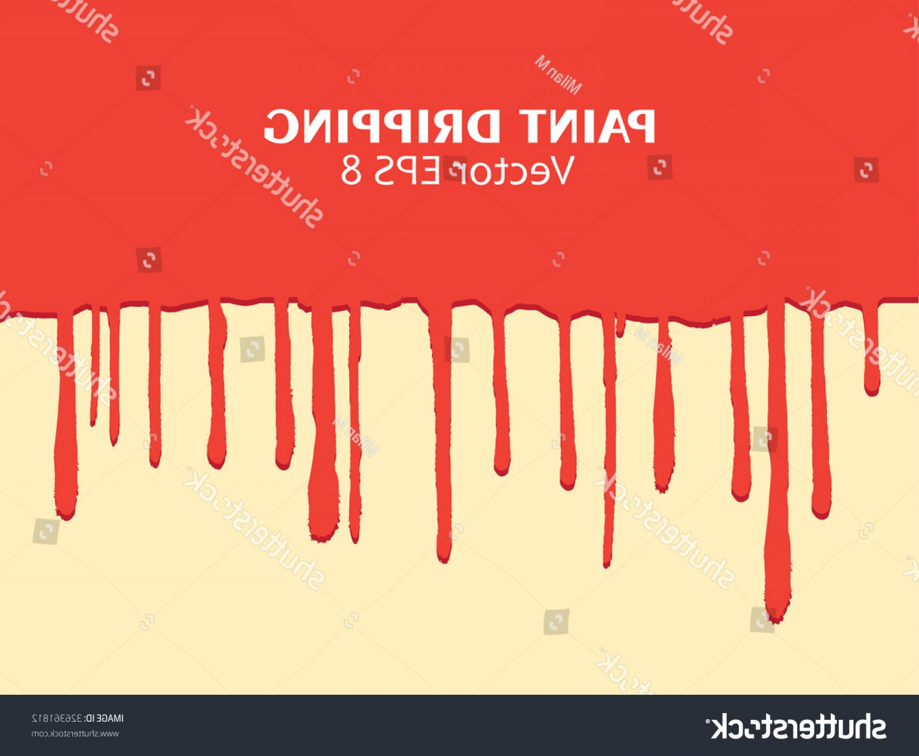 Dripping Paint Vector Illustration: Paint Drippingpaint Drips Backgroundvector Illustration
