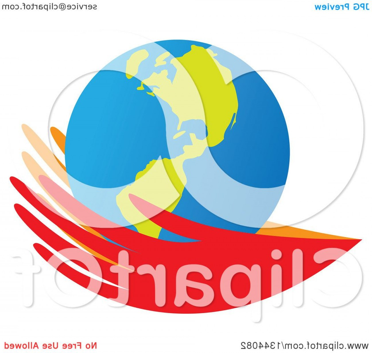 Globe Vector Clip Art Transparent Orange: Pair Of Red And Orange Hands Holding An Earth Globe