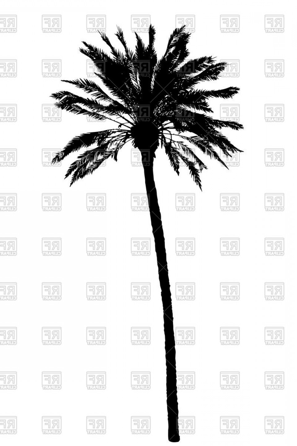 Tree Silhouette Vector Clip Art: Palm Tree Silhouette Vector Clipart