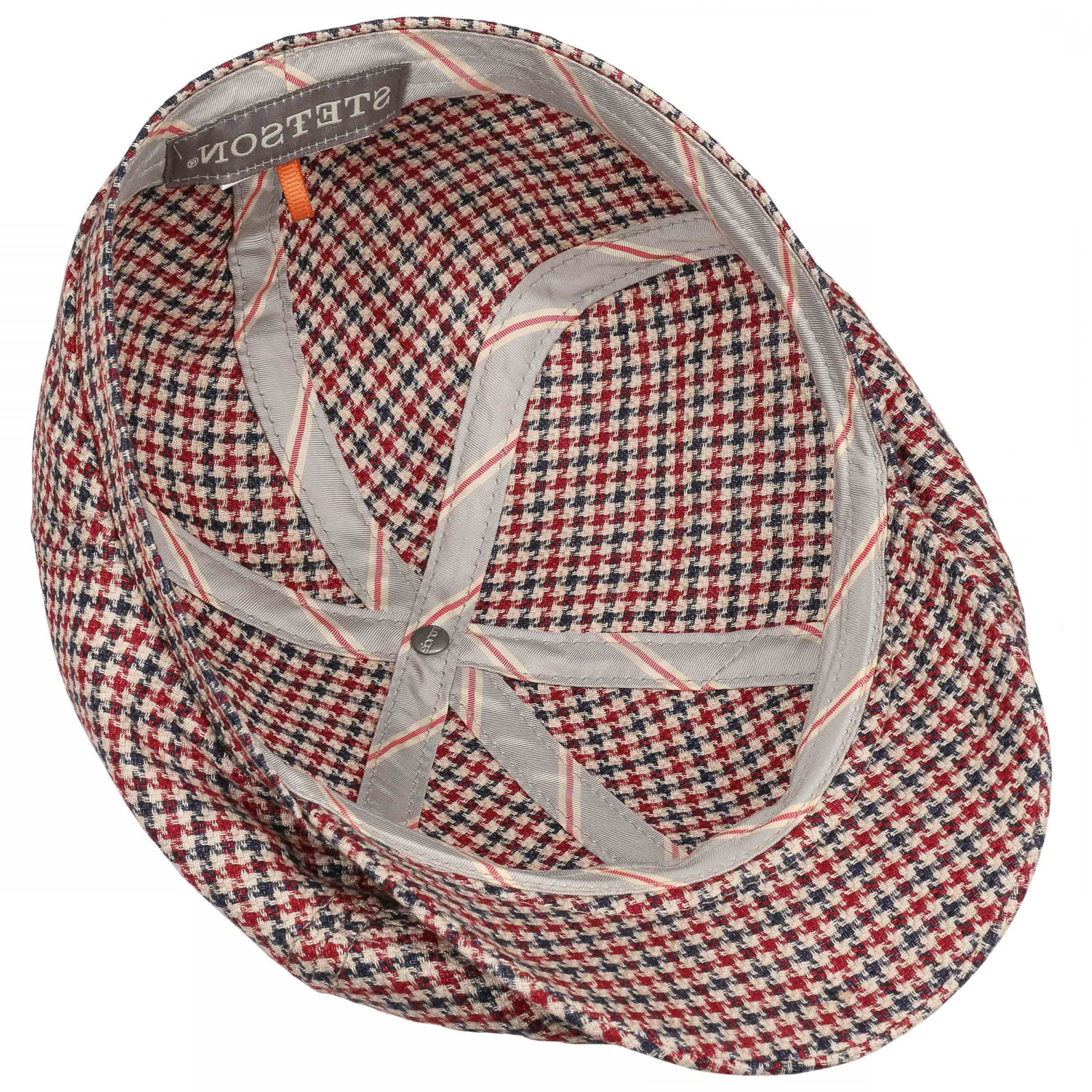 Houndstooth Hats Vector: Panel Houndstooth Flat Cap By Stetson