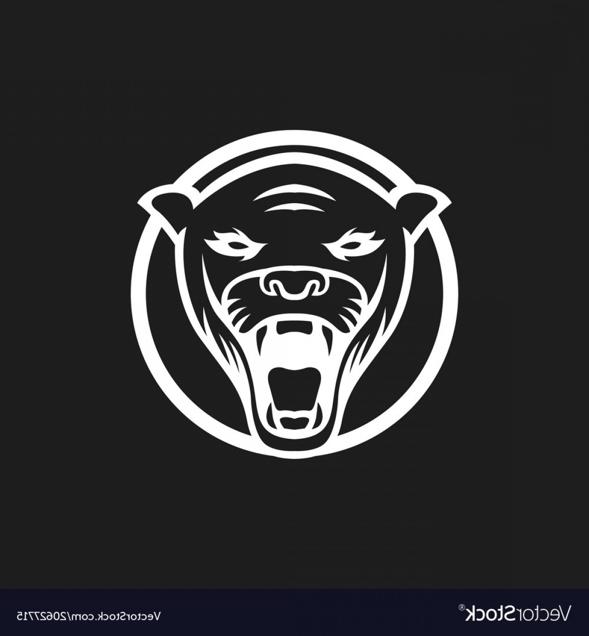Vector Panther Football: Panther Logo Mascot Design Sport Isol Vector