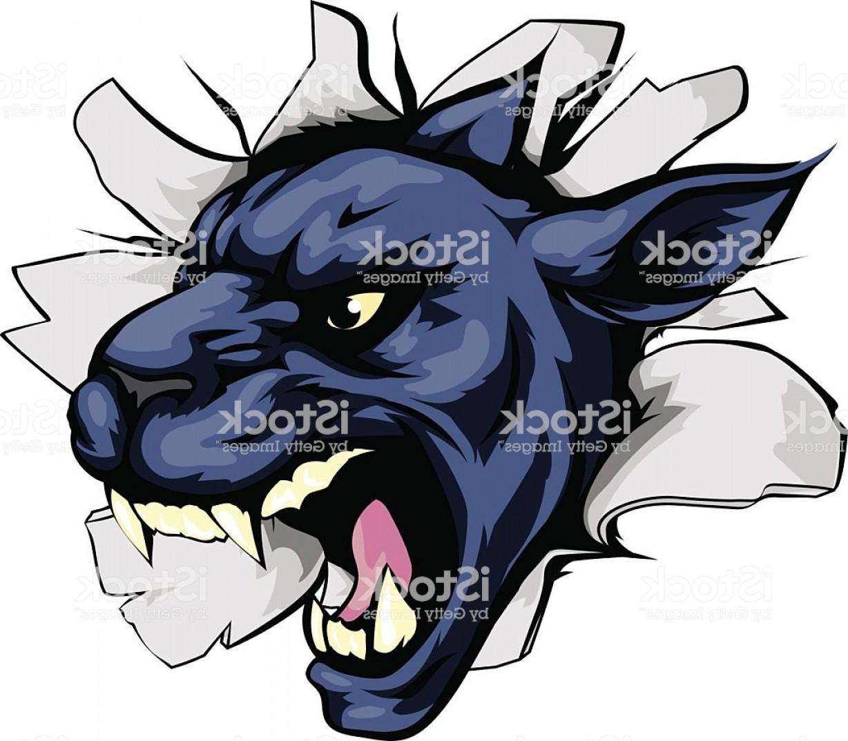 Panther Mascot Vector Sports: Panther Sports Mascot Breakthrough Gm