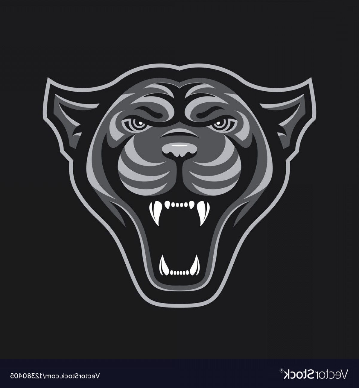 Vector Panther Football: Panthers Head Logo For Sport Club Or Team Animal Vector
