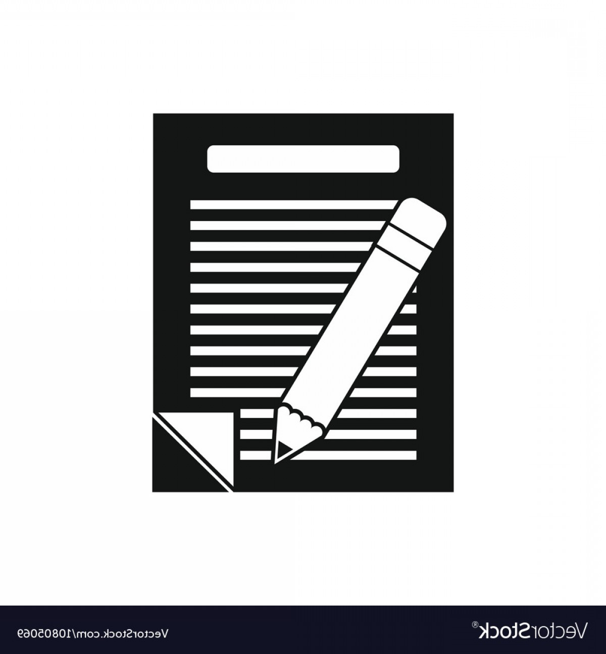 Paper And Pencil Icon Vector: Paper And Pencil Icon Simple Style Vector