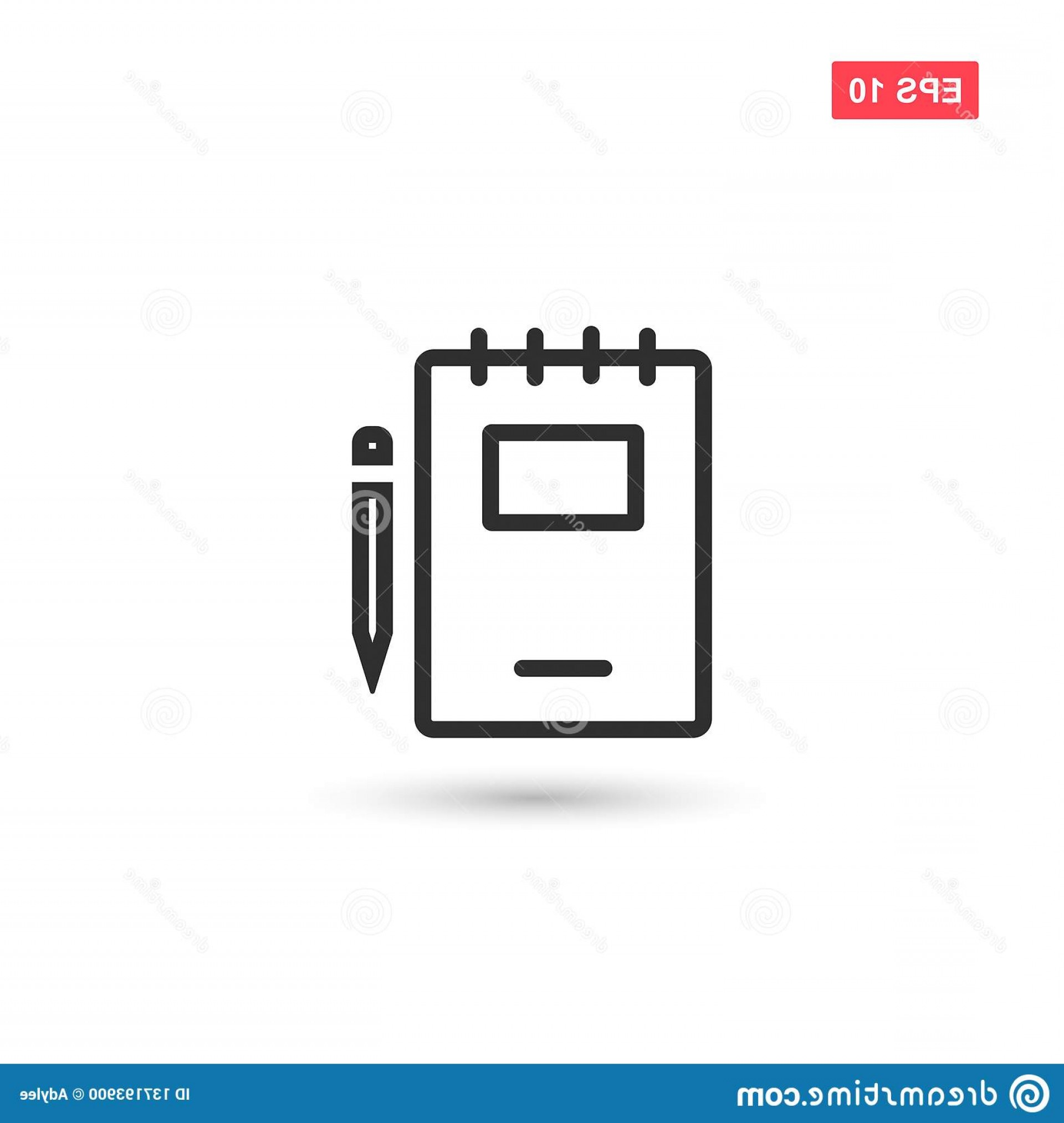 Paper And Pencil Icon Vector: Paper Notebook Pencil Icon Vector Design Isolated Eps Paper Notebook Pencil Icon Vector Design Isolated Image
