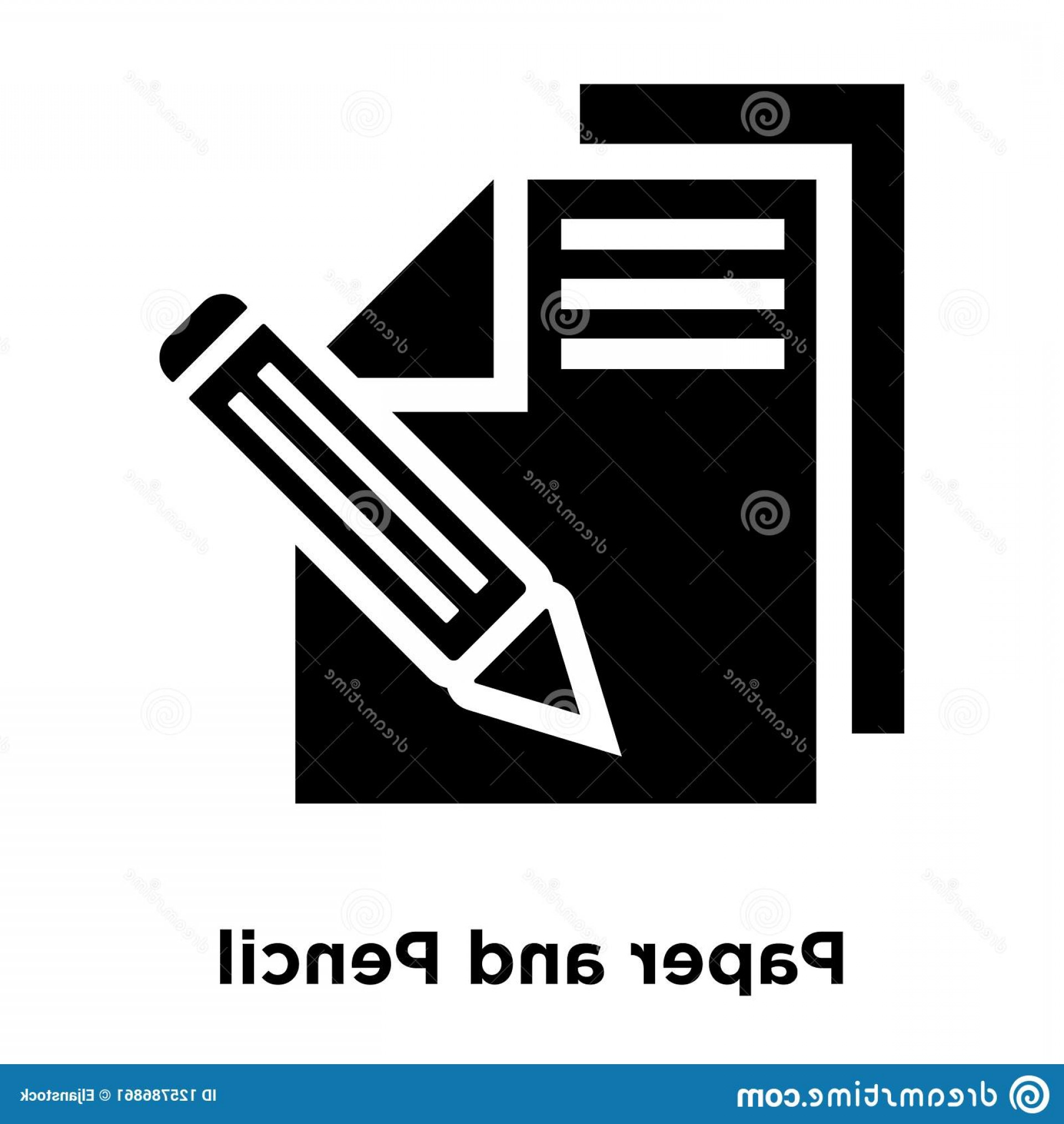 Paper And Pencil Icon Vector: Paper Pencil Icon Vector Isolated White Background Logo Concept Paper Pencil Sign Transparent Background Filled Image