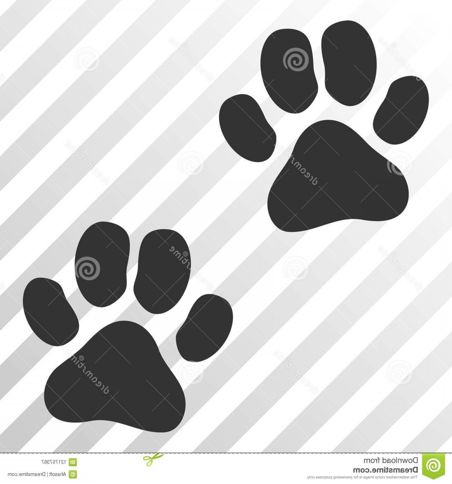 Footprint Vector EPS: Paw Footprints Vector Eps Icon Paw Footprints Vector Pictograph Illustration Style Flat Iconic Symbol Hatched Image