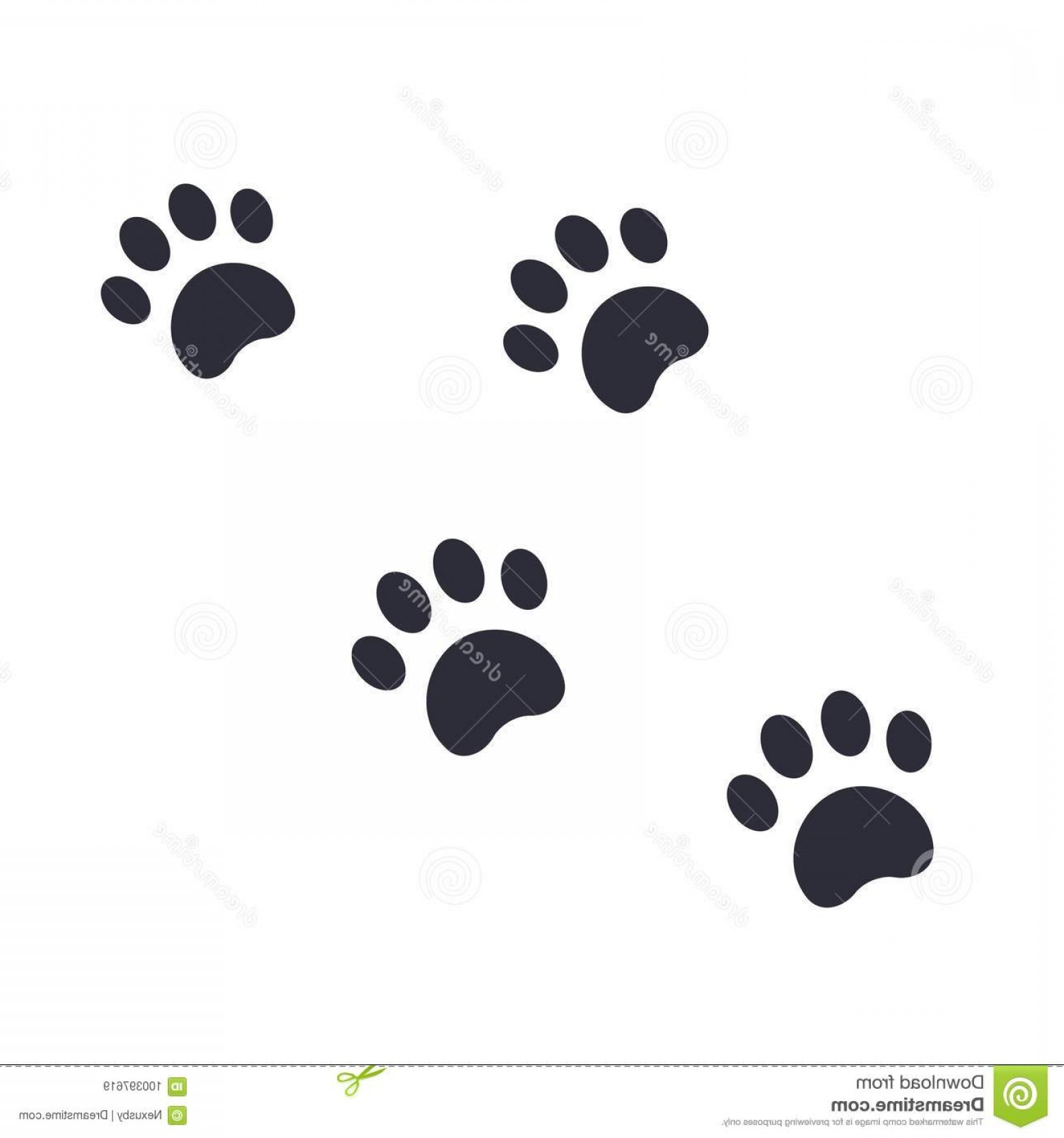 Footprint Vector EPS: Paw Footprints Vector Illustration Eps File Easy To Edit Paw Footprints Vector Illustration Image
