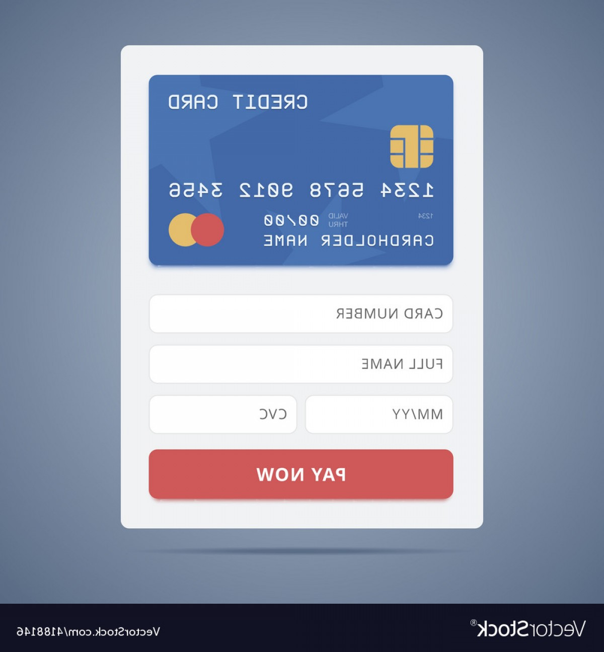 Vector Application Form: Payment Application Form With Credit Card Vector