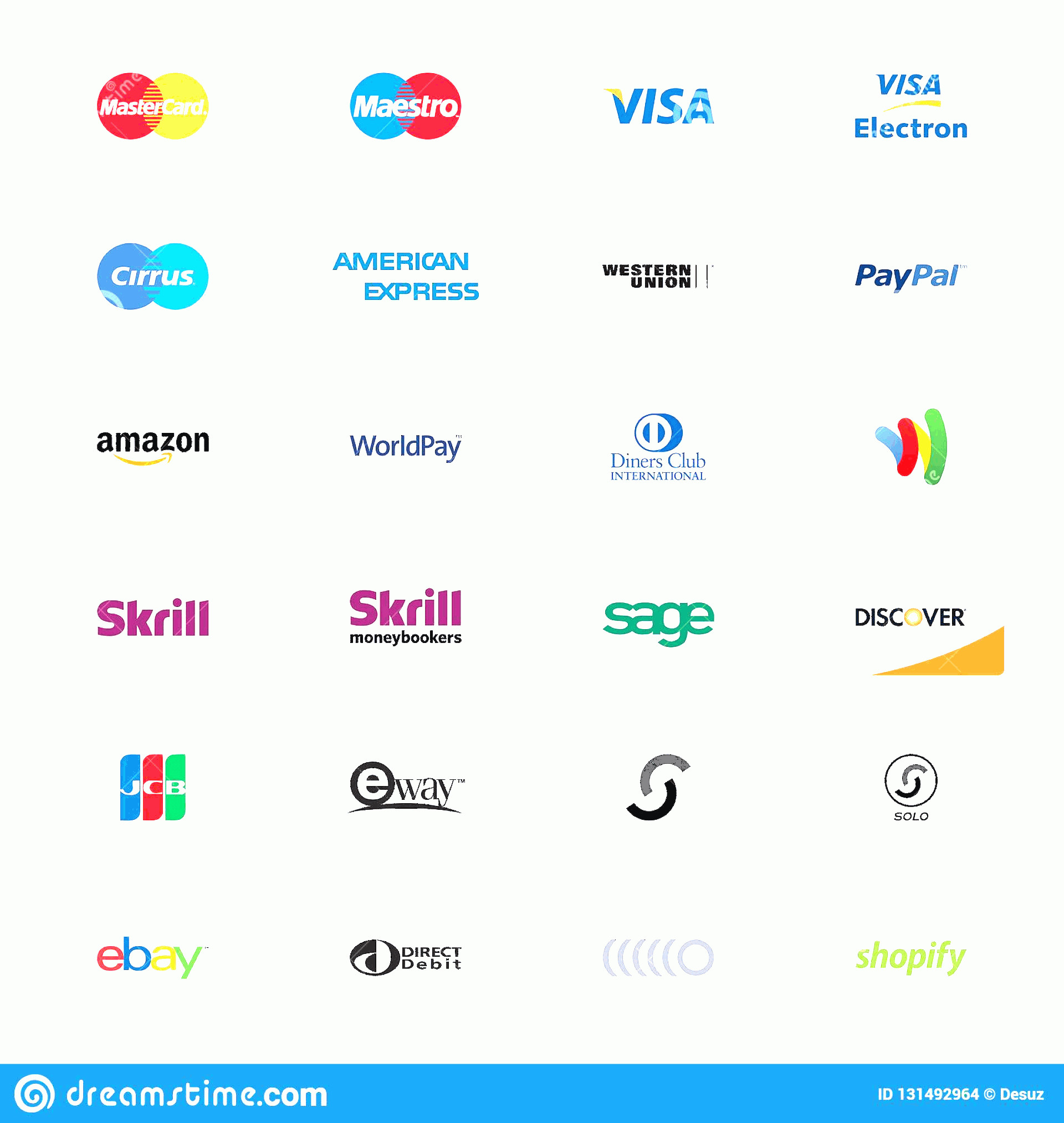 Discover Card Logo Vector: Payment Method Logos White Background Collection Vector Basic Methods Credit Cards Money Transfer Systems Online Image