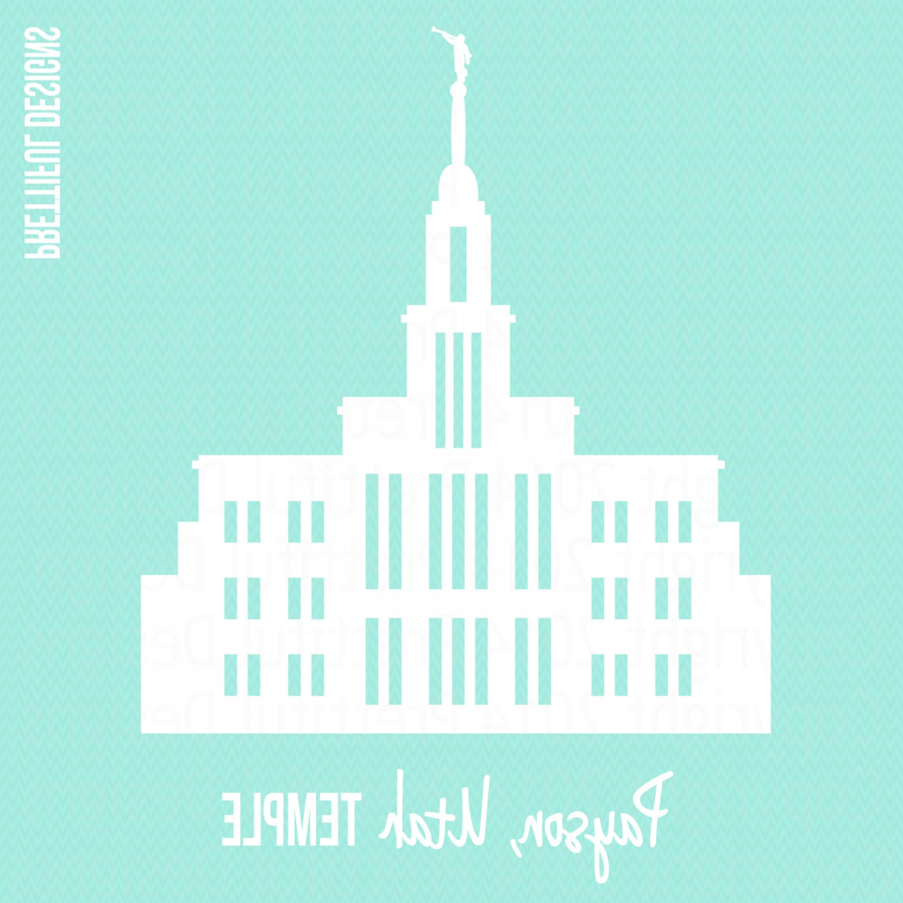 Salt Lake City Temple Vector: Payson Temple Utah Lds Mormon Clip Art