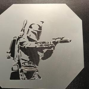Airbrush Stencil Art Vector: Airbrush Paint Sprayer Black Icon Gm