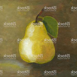 Vector Pear Painting: Painting Of Yellow Pear Gm