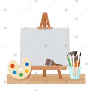 Vector Art Painting: Painting Vector Illustration Oil On Canvas