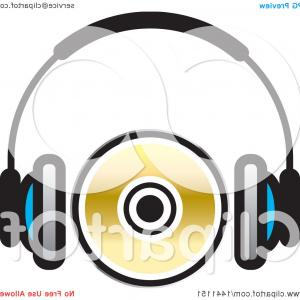 CD Vector Art: Pair Of Headphones And A Cd Or Dvd