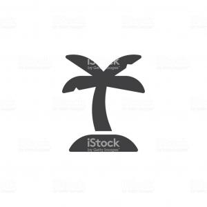Palm Tree Icon Vector: Palm Tree Icon Design Flat Style