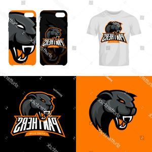 Panther Mascot Vector Sports: Stock Vector Panther Sports Mascot Running
