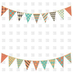 Flag Vector Clip Art: Party Bunting Flags Vector Clipart