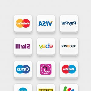 Credit Card Logos Vector: Payment Method Credit Card Icon Set