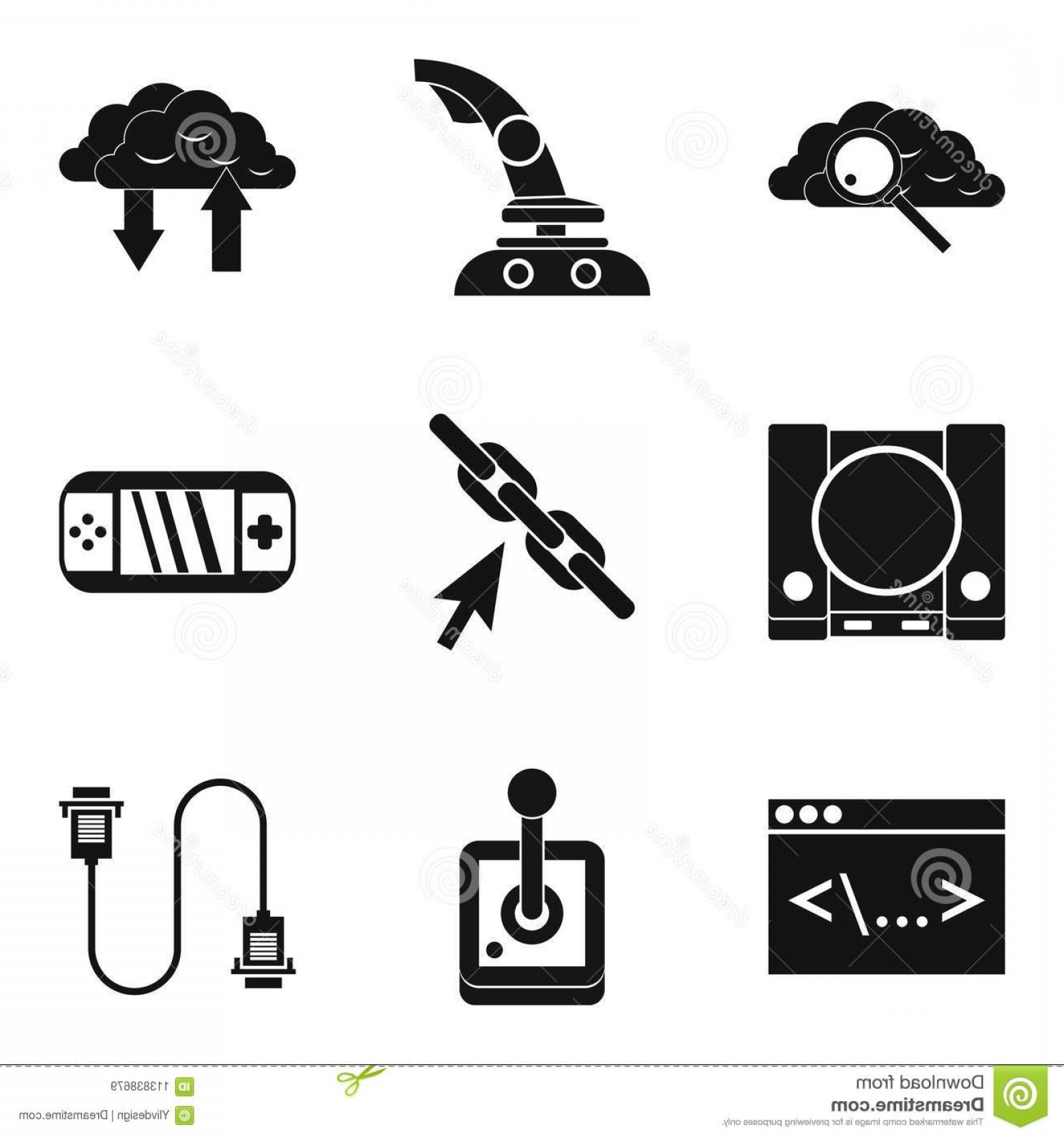 Vector The Game On PC: Pc Game Icons Set Simple Set Pc Game Vector Icons Web Isolated White Background Pc Game Icons Set Simple Style Image