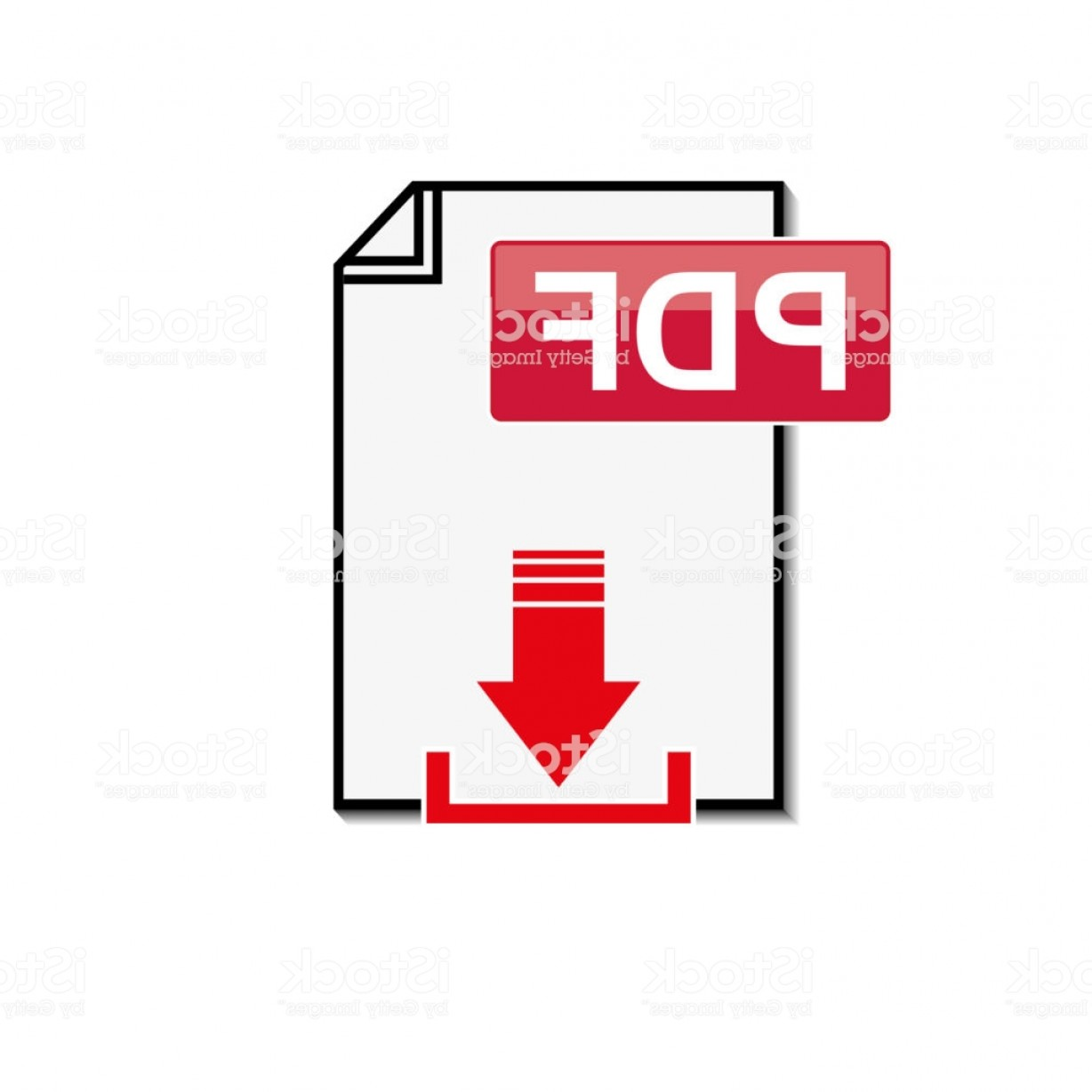 Downloadable Vector Art: Pdf File Download Icon On White Background Gm