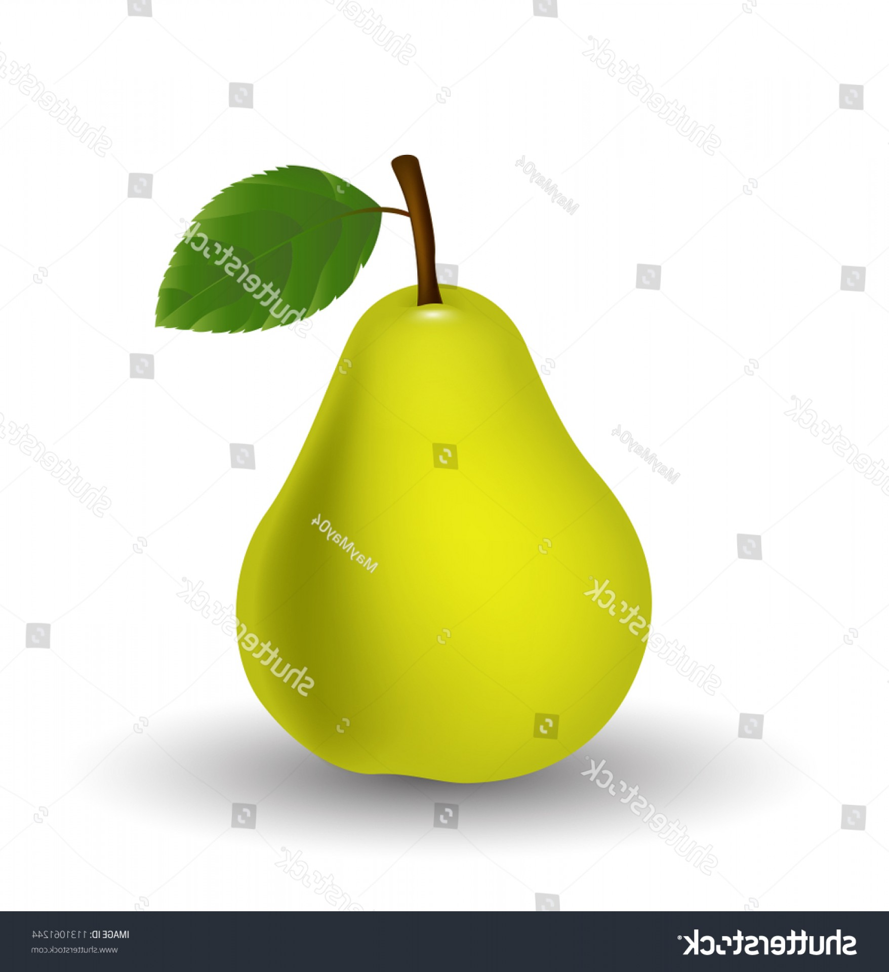 Pear Vector Shutterstock: Pear Isolated On White Background