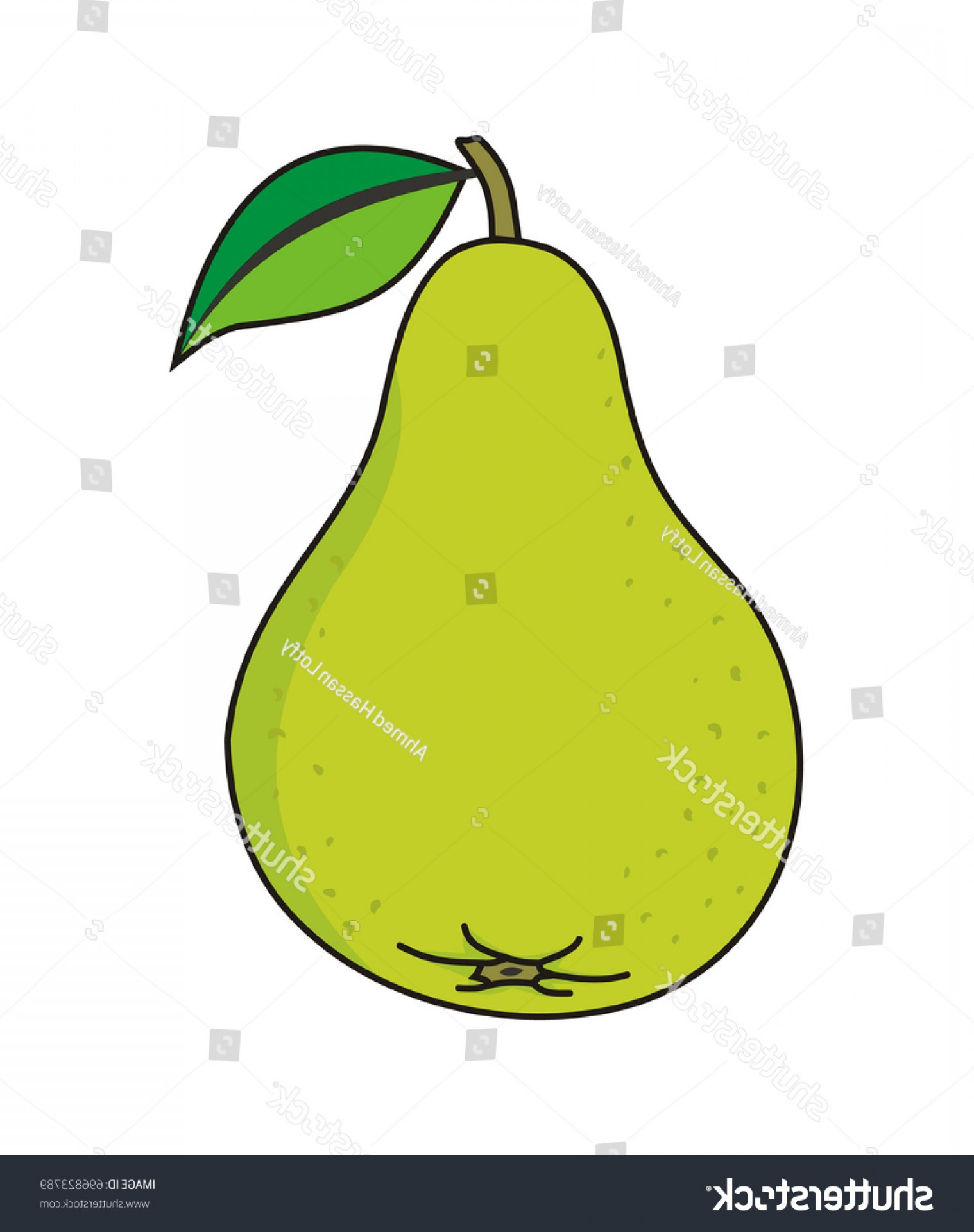 Pear Vector Shutterstock: Pear Vector Illustration Isolated On White