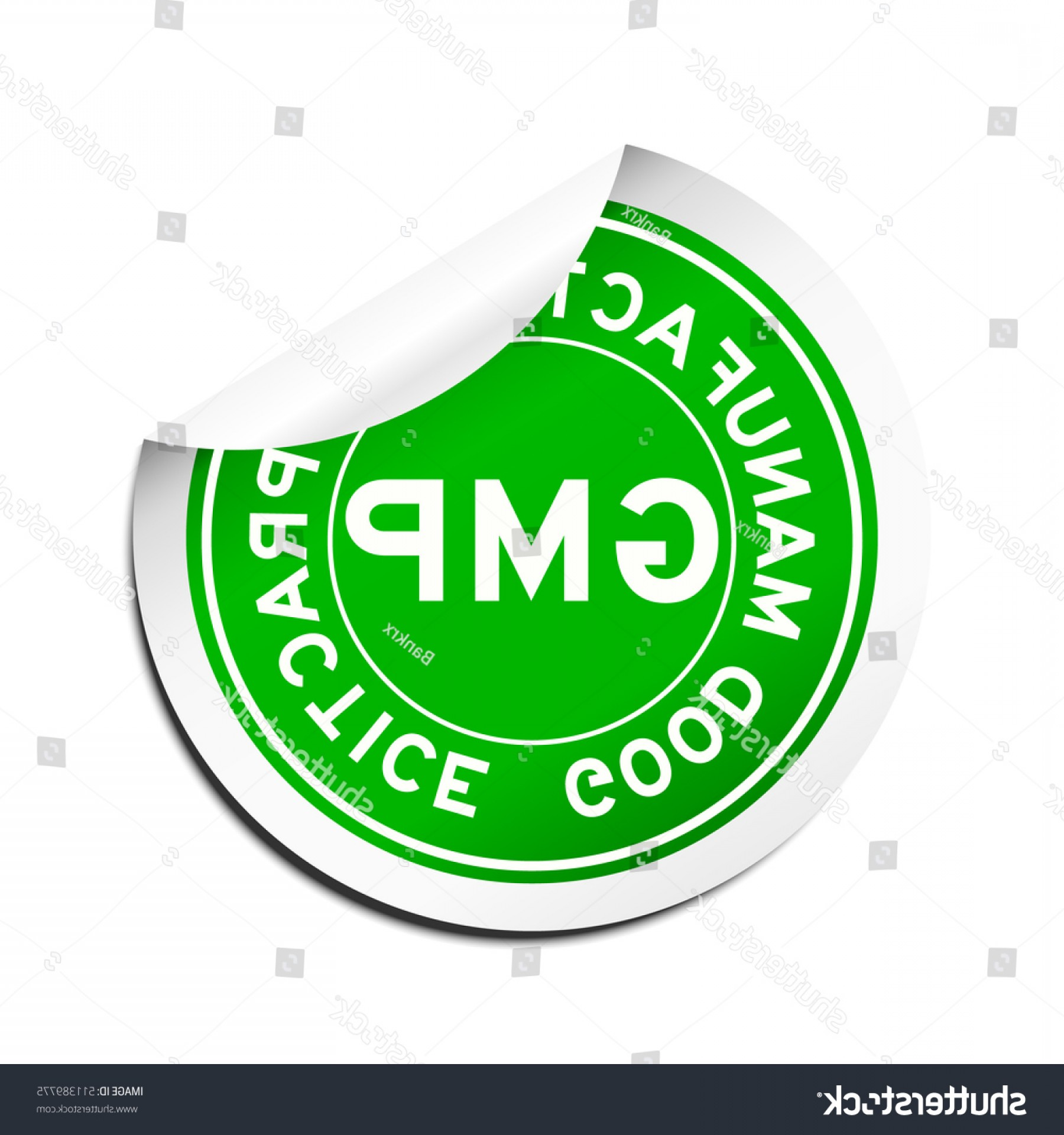 GMP Logo Vector: Peel Green Gmp Good Manufacturing Practice