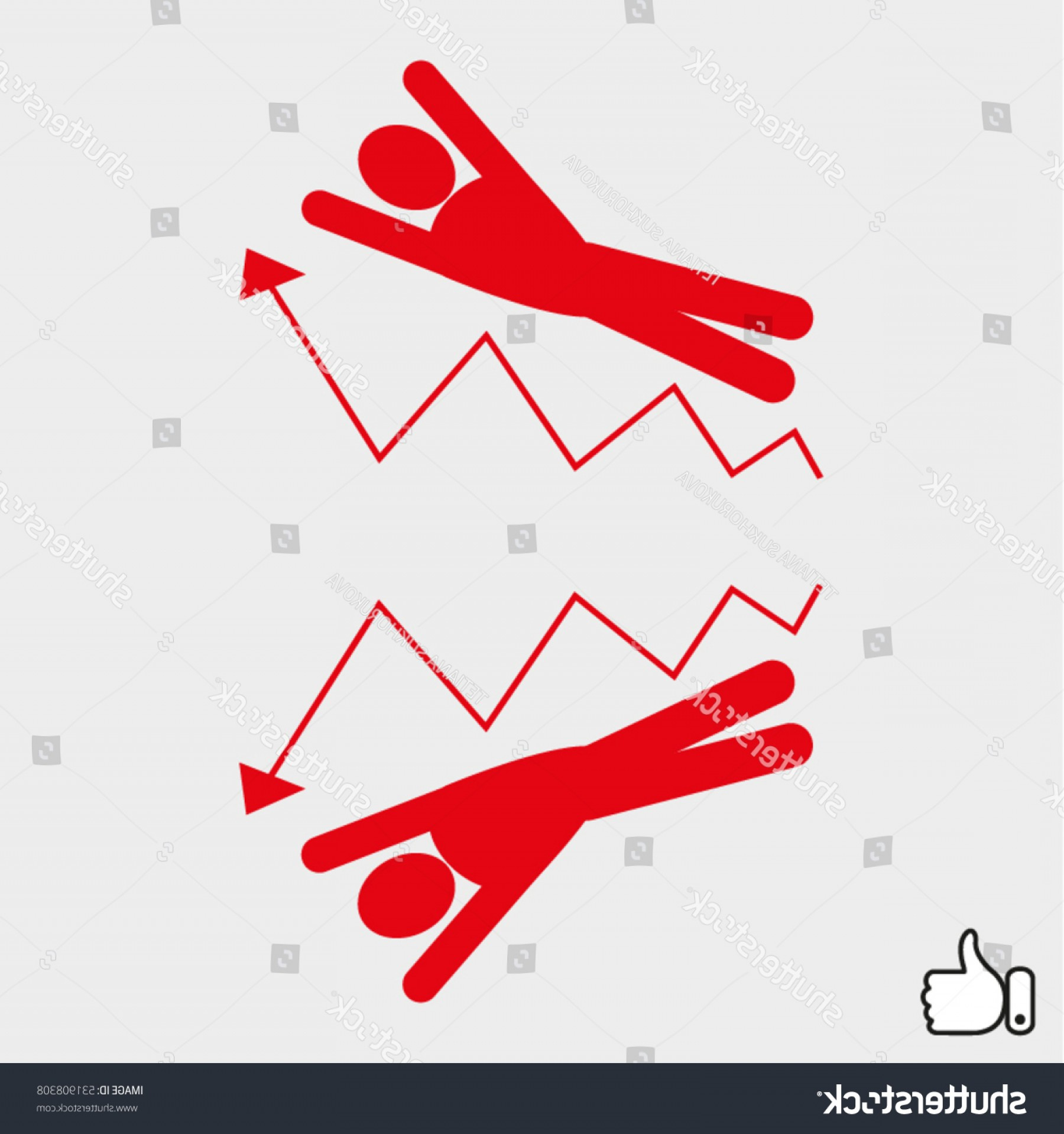 Growth Vector People: People Business Growth Fall Icon Vector