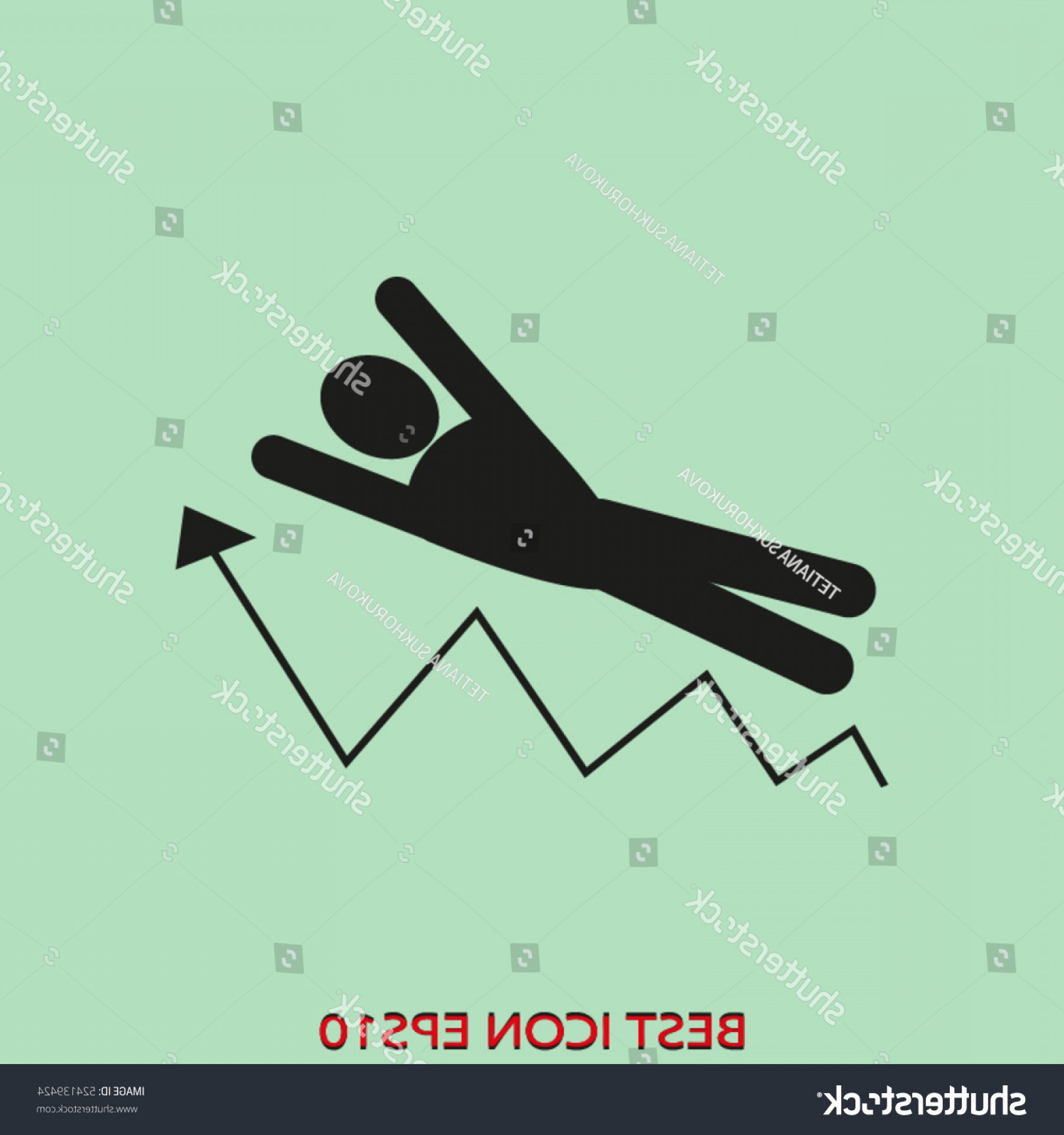 Growth Vector People: People Business Growth Fall Vector Icon