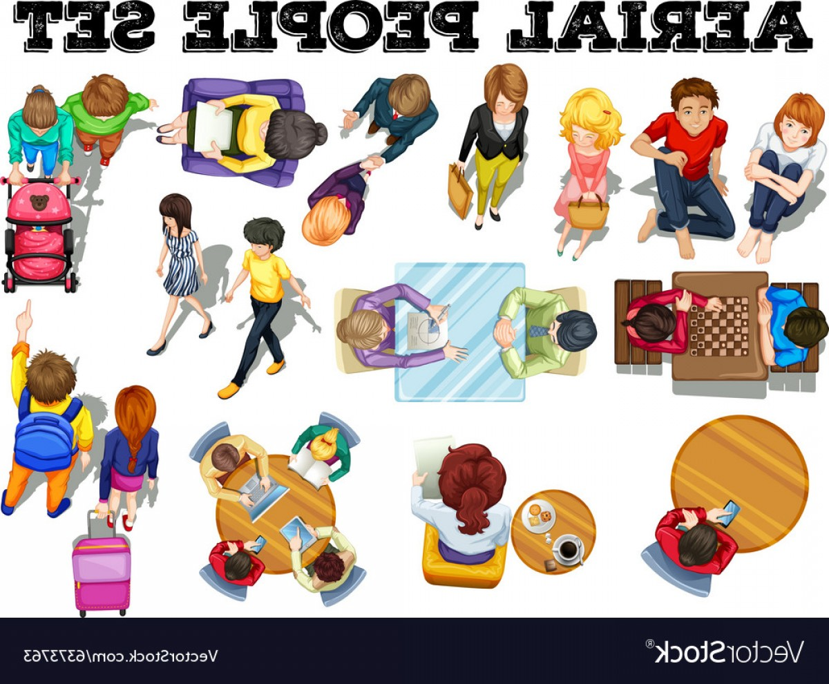 Vector People Free Clip Art: People From Top View Vector