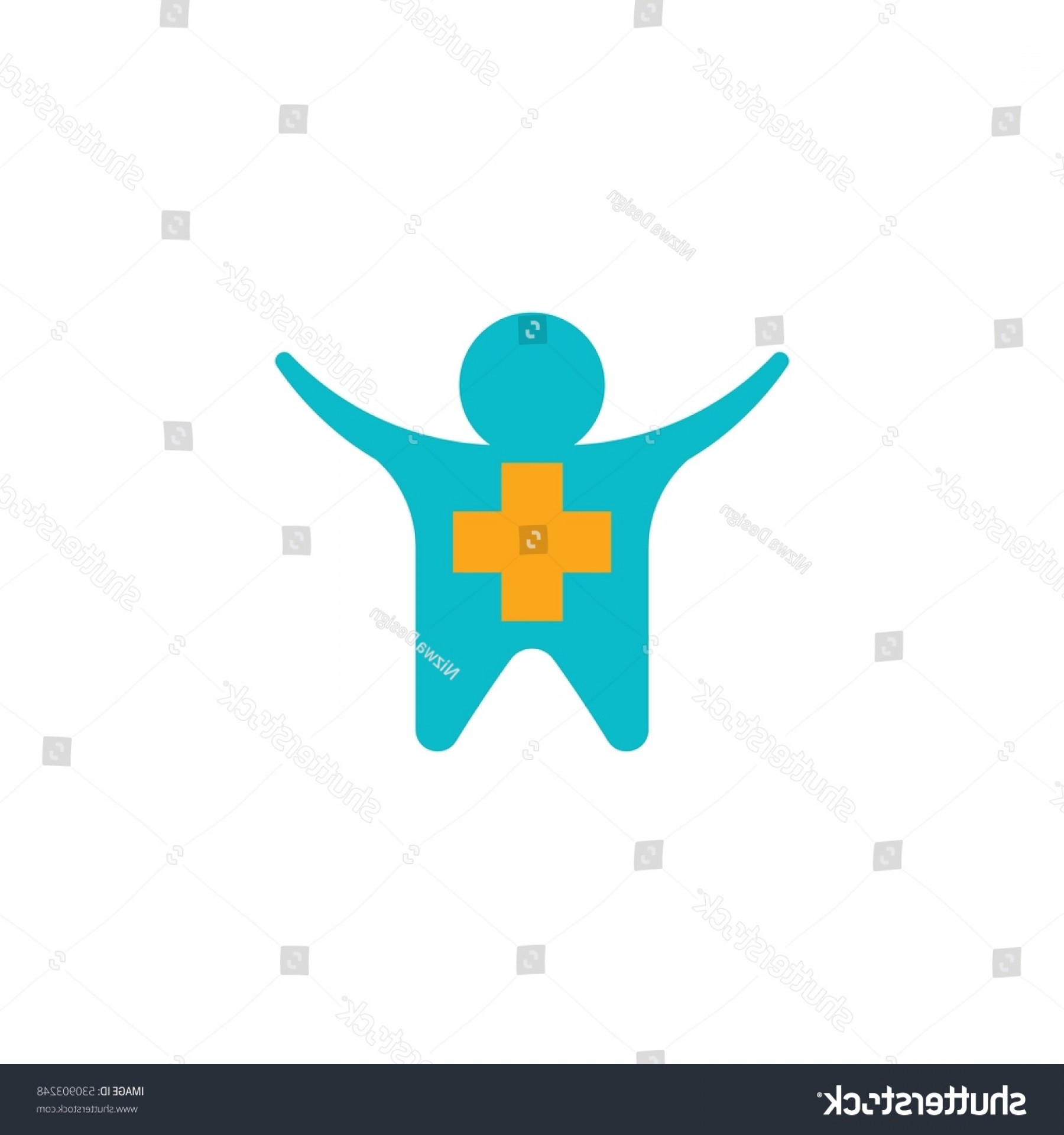 Health Vector Logo: People Health Vector Logo Design Element