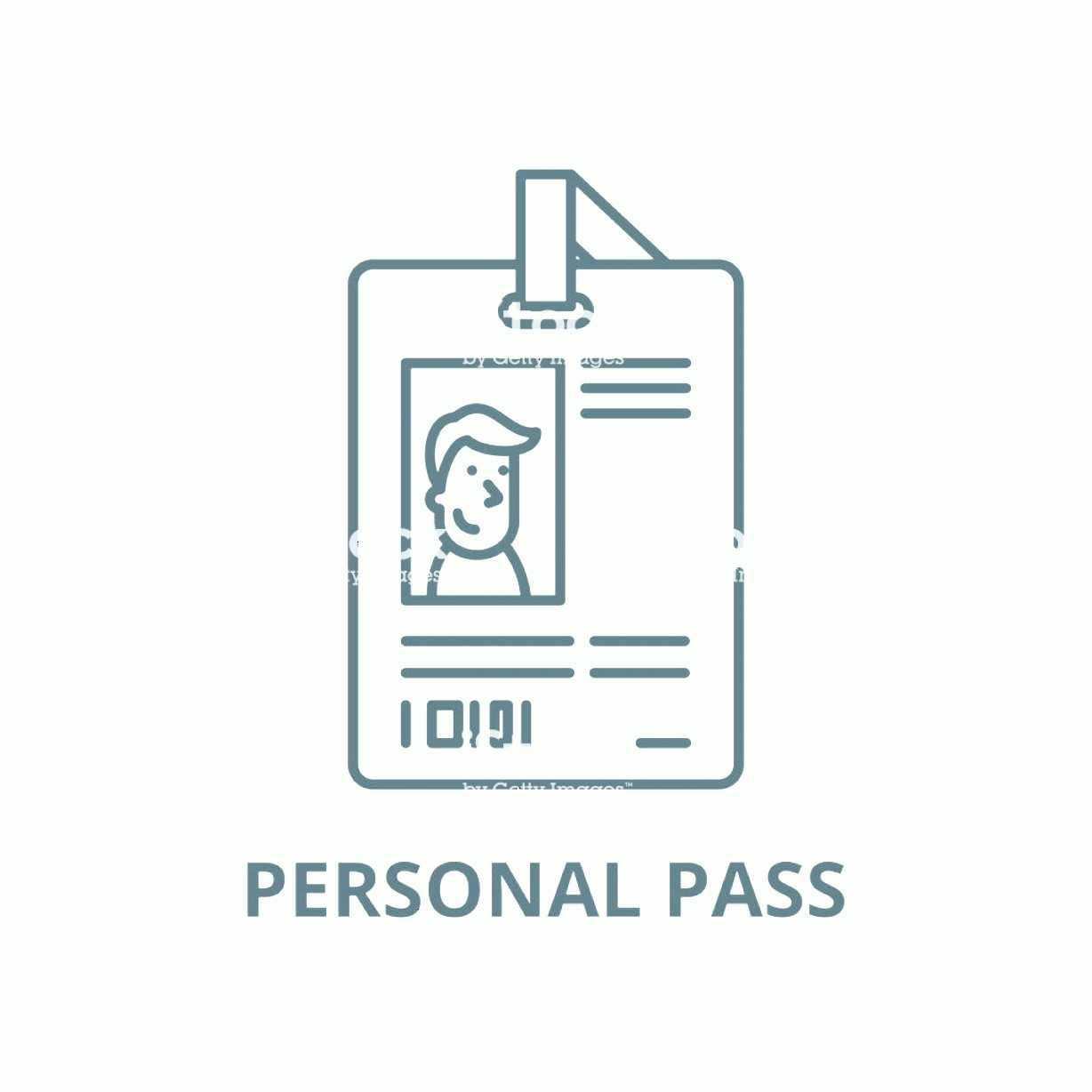 Symbol Vector Clip Art: Personal Pass Vector Line Icon Linear Concept Outline Sign Symbol Gm