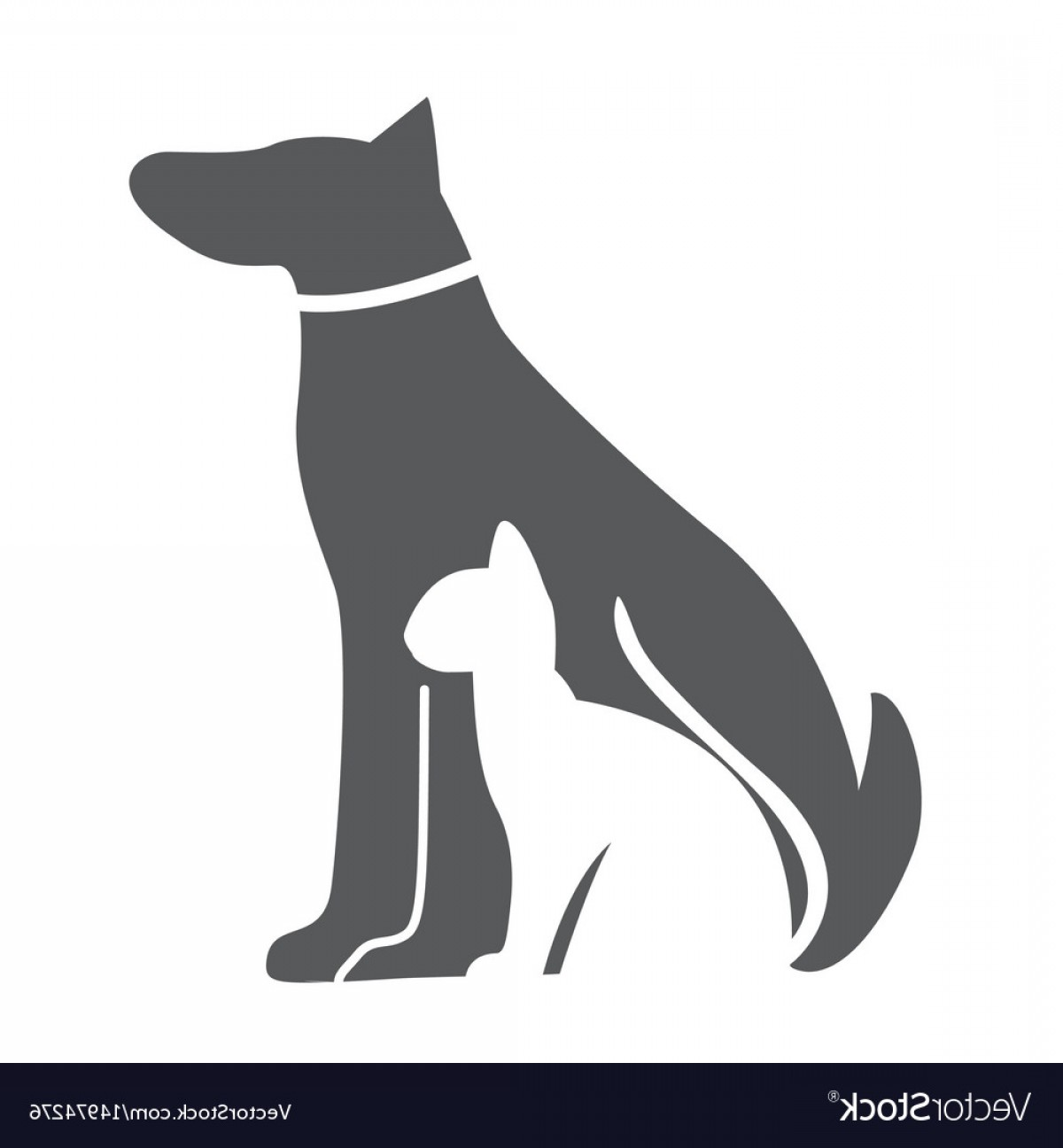 Dog And Cat Vector Illustration: Pet Dog And Cat Icon Material For Design Vector
