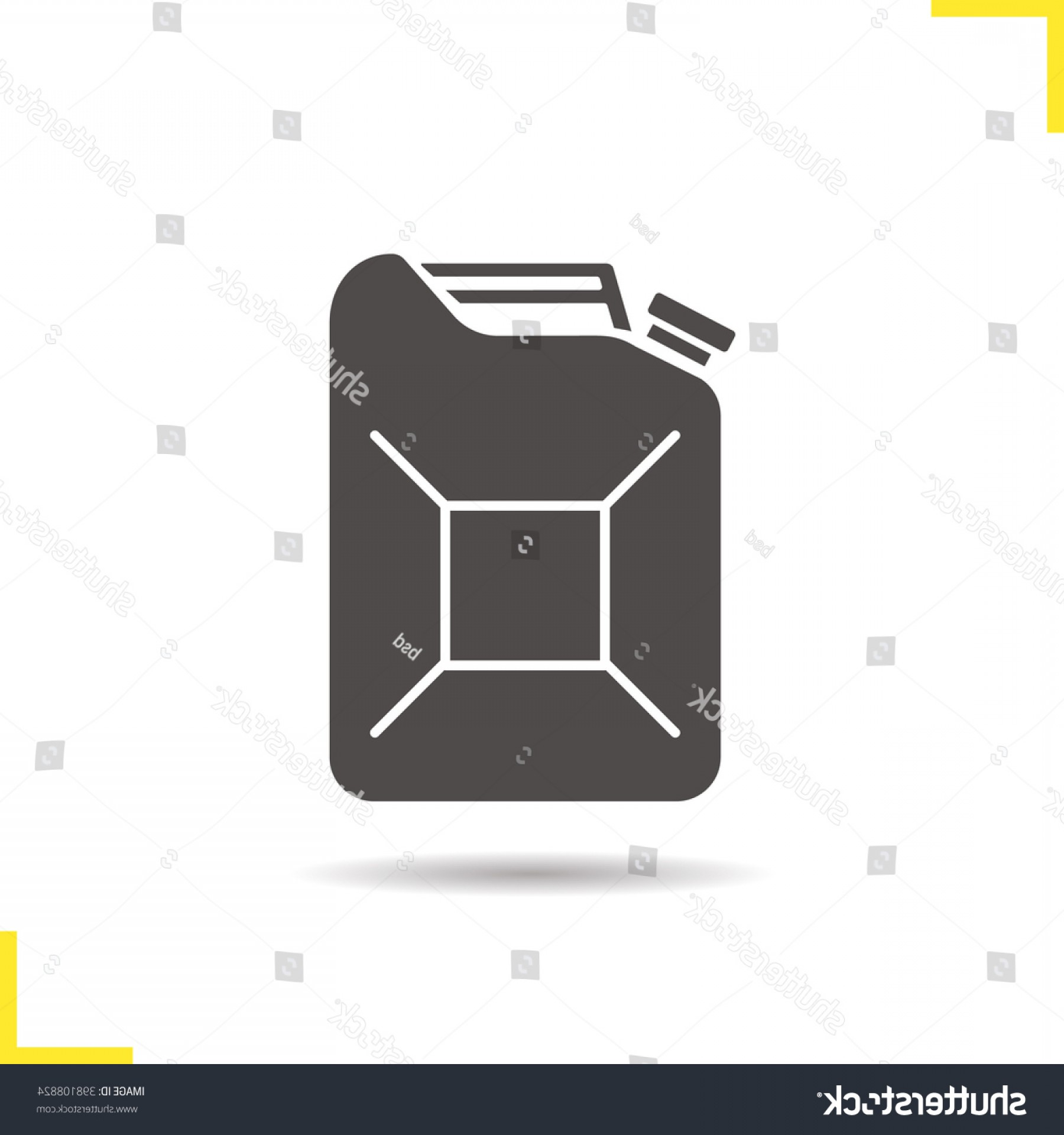 Maltese Cross Solid Vector: Petrol Jerrycan Icon Gasoline Canister Drop