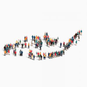 Expanding Population Icon Vector: Photostock Vector Population And Demography Illustration Set Of Types Of Population Pyramids Chart Or Age Structure