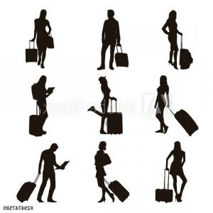 Spider Vector Graphics: People With Travel Bag Scorpion And Spider Vector Illustration