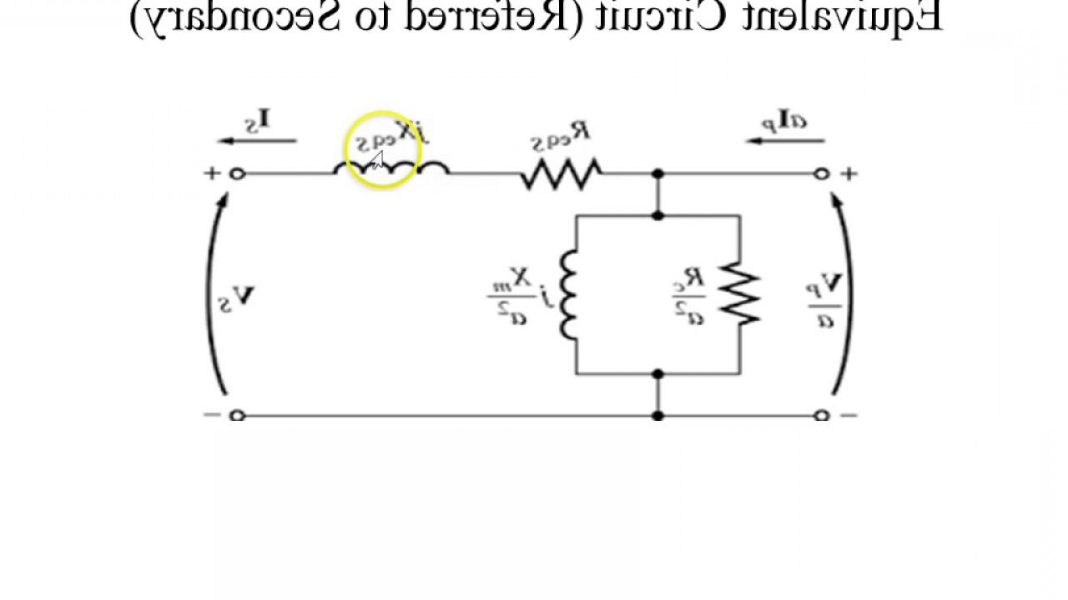 Transformer Vector Diagrams: Phasor Diagram And Equivalent Circuit Of A Single Phase Transformers