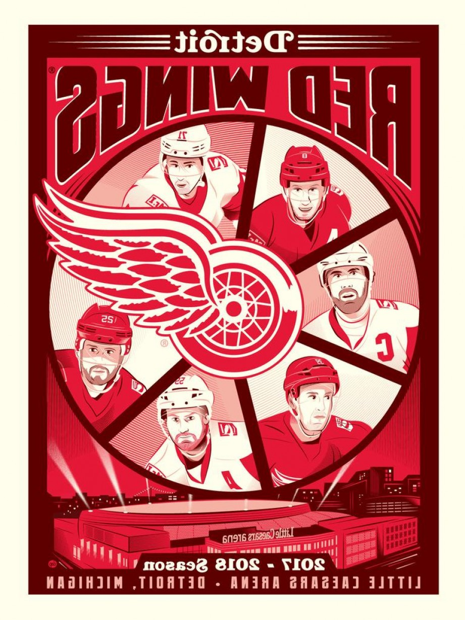 Detroit Red Wings Vintage Logo Vector: Phenom Gallery Launches Dave Perillo Serigraph With The Detroit Red Wings