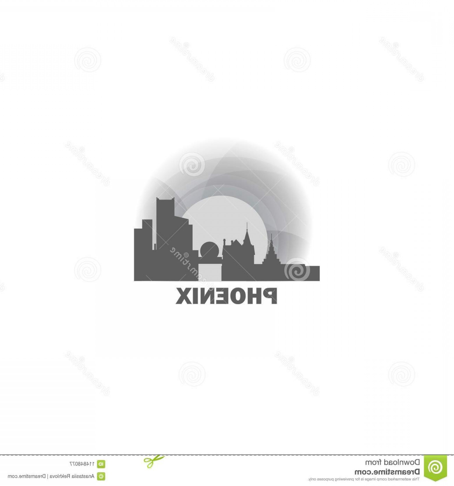 Wicked Boston Skyline Silhouette Vector: Phoenix City Skyline Silhouette Vector Logo Illustration Usa United States America Phoenix City Skyline Landscape Silhouette Image