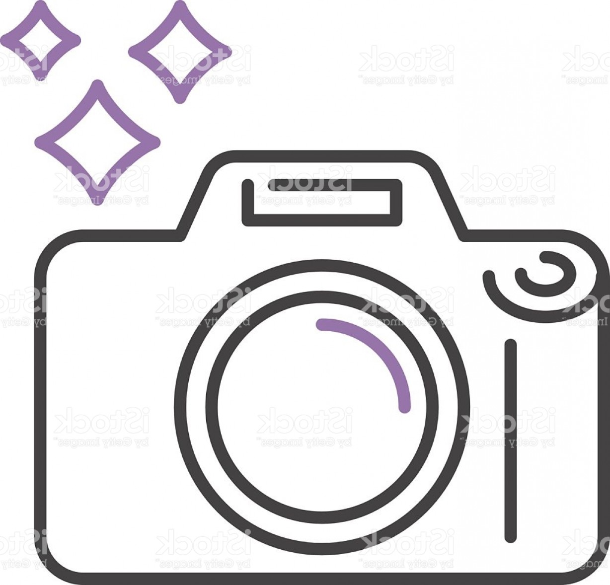 Camera Outline Vector Graphic: Photo Camera Icon Digital Design Lens Photography Symbol Vector Outline Gm