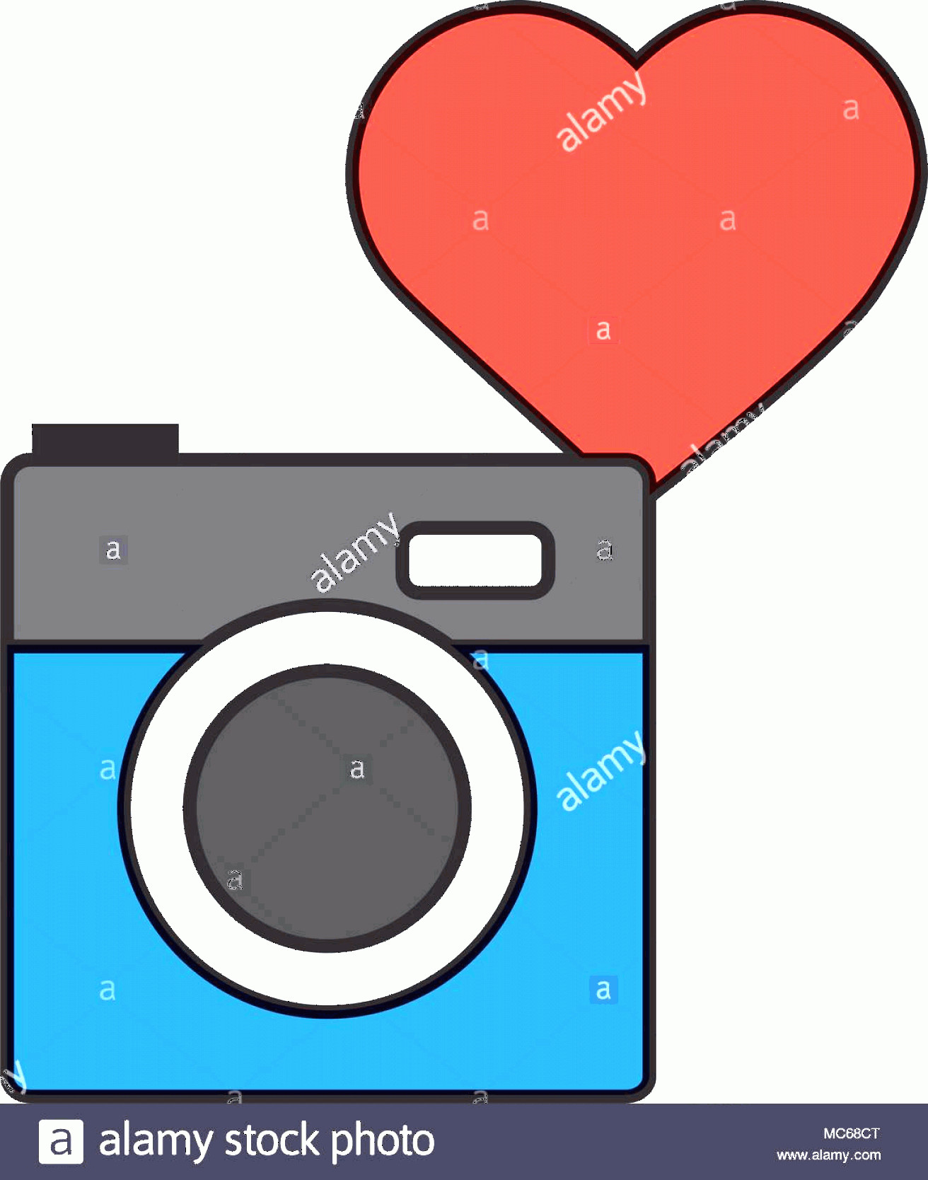Camera Heart Clip Art Vector: Photo Camera Love Heart Social Media Image