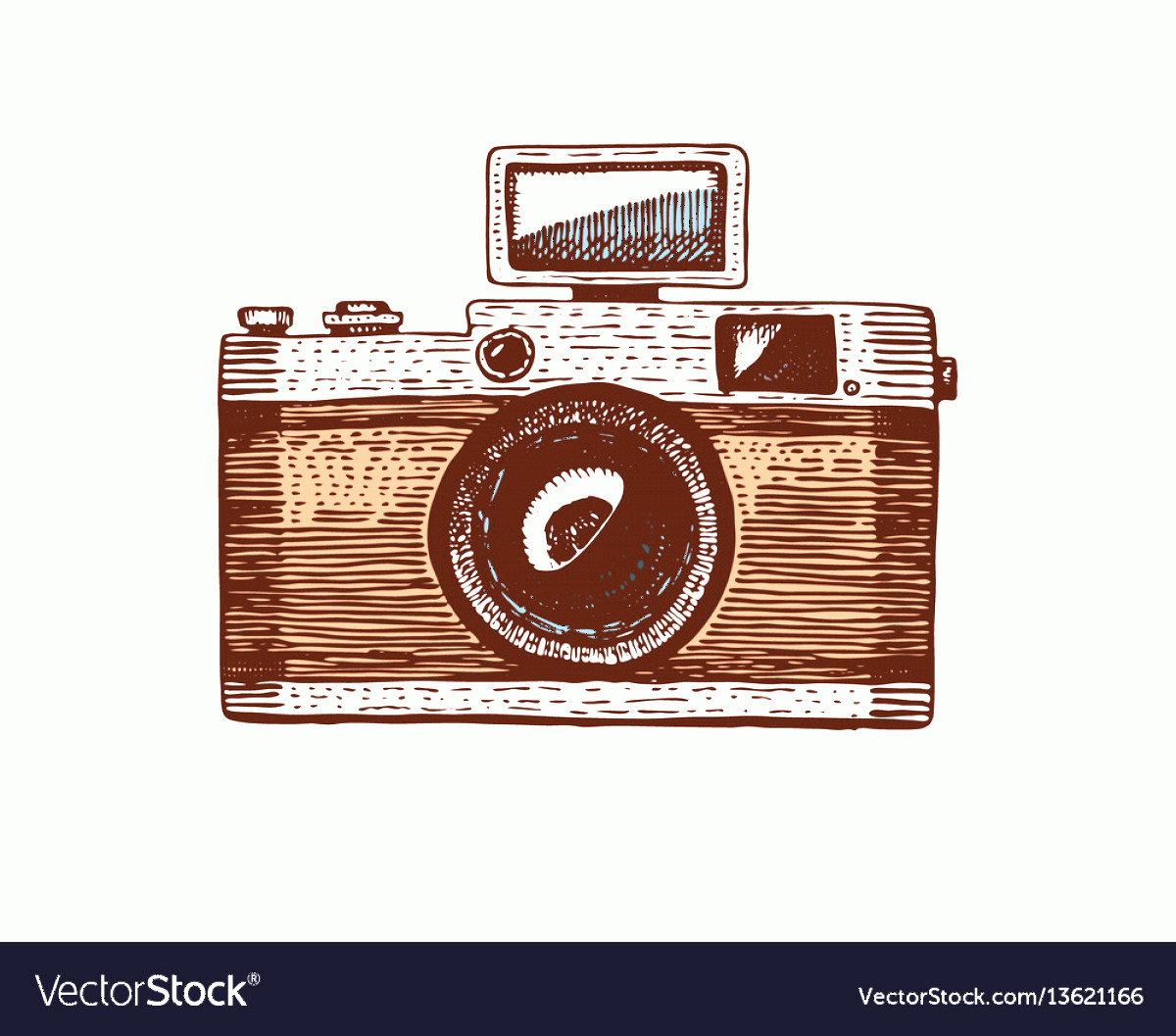 Classic Camera Vector: Photo Camera Vintage Engraved Hand Drawn In Vector