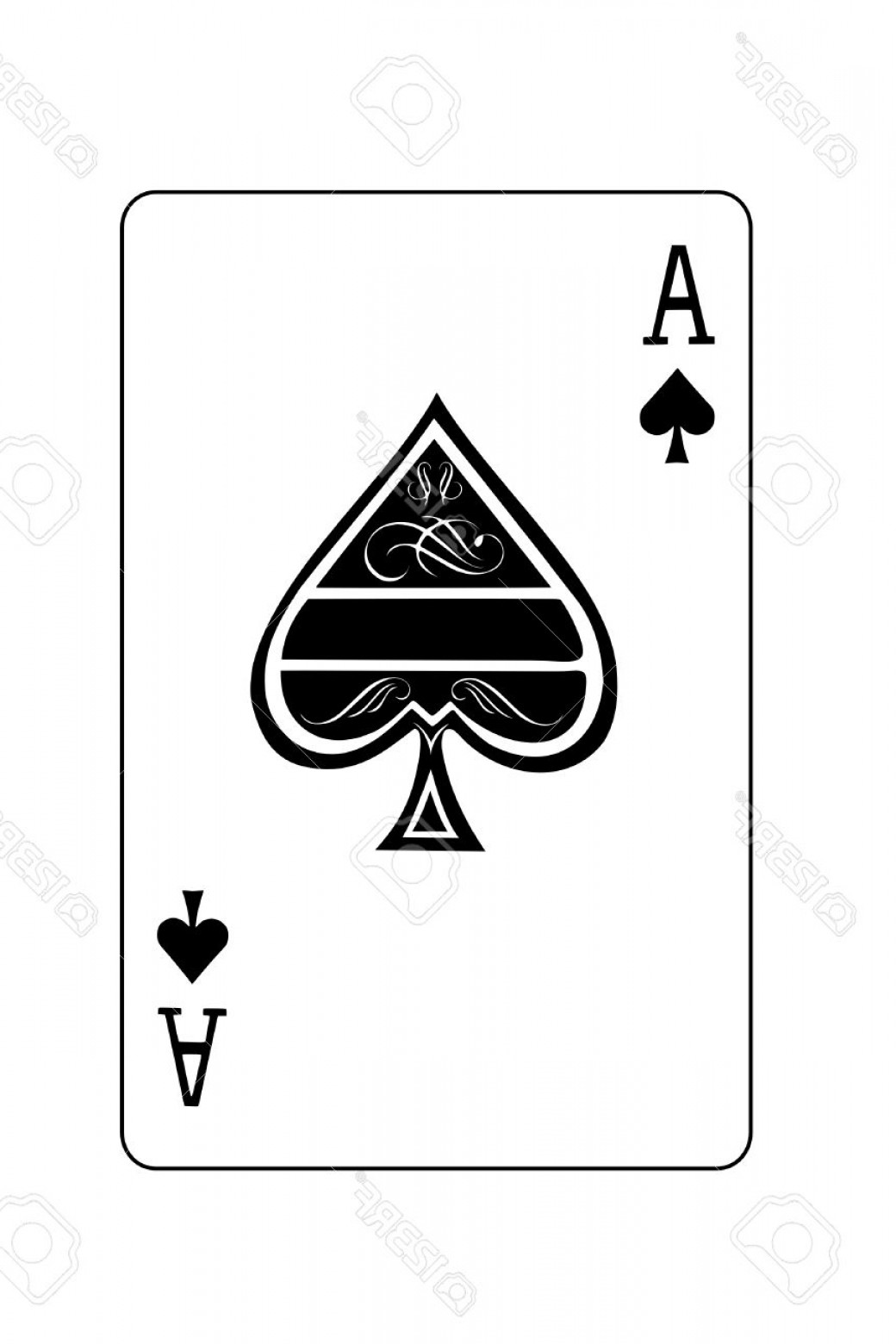 Spade Card Vector: Photoa Isolated Ace Of Spades Playing Card