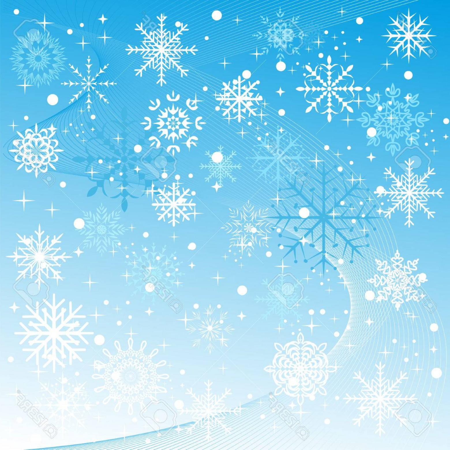 Snow Falling Vector Free: Photoa Winter Background With Snowflakes Falling Vector