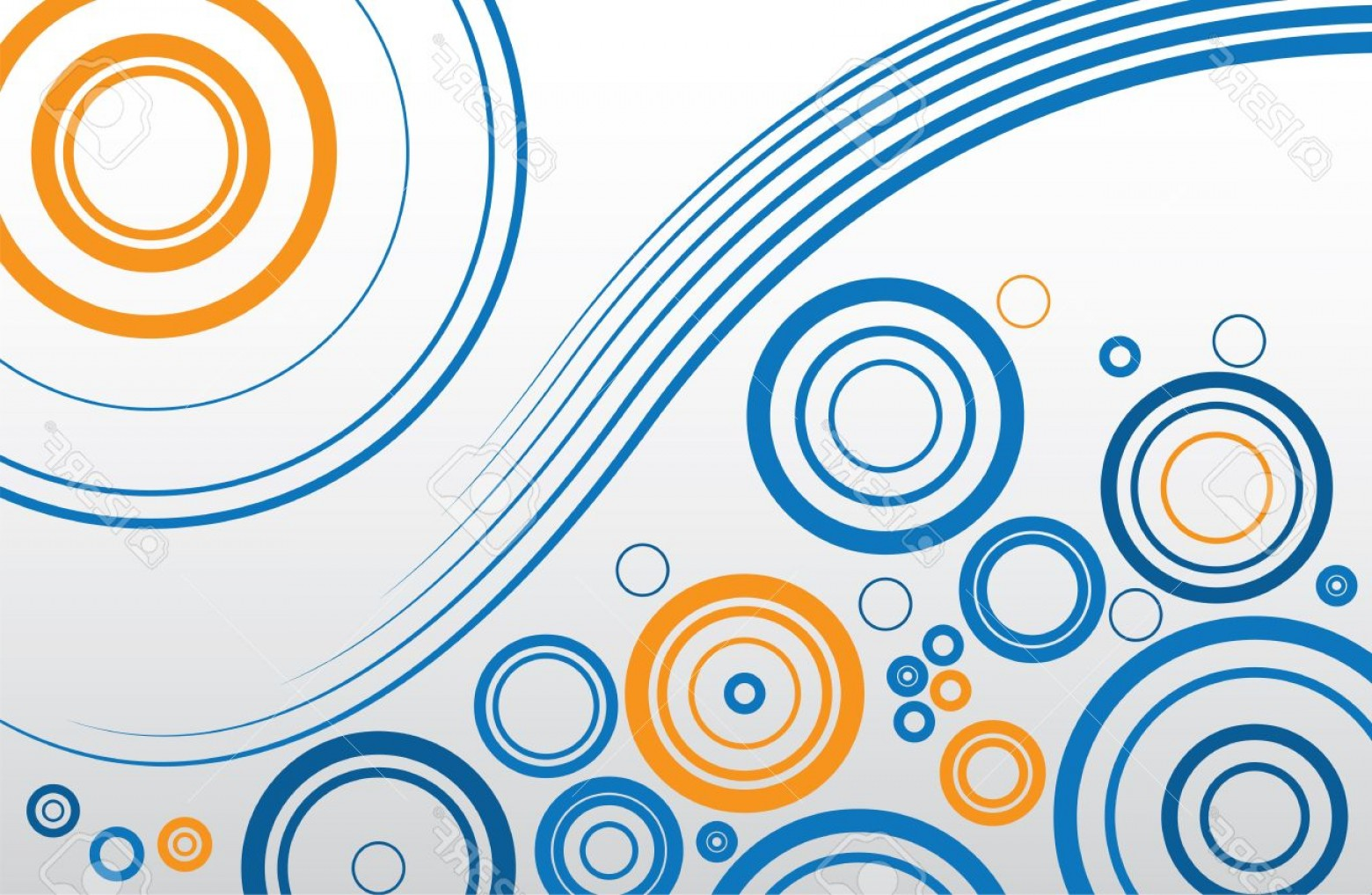 Blue And Orange Circle Vector: Photoabstract Background Of Blue And Orange Circles