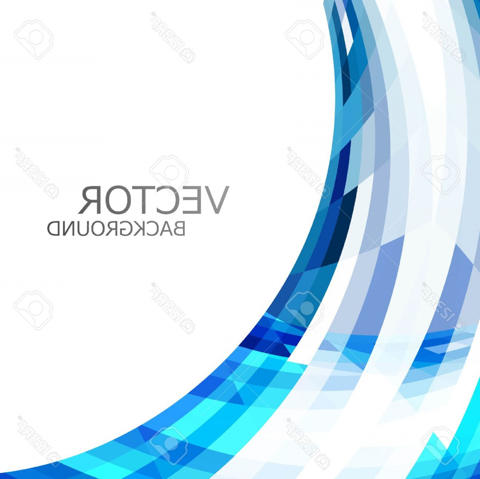 Blue With White Background Vector: Photoabstract Blue Colorful Stylish Wave Technology White Background Vector