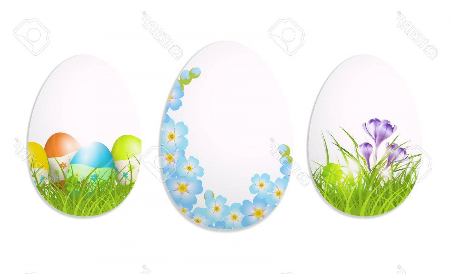 Easter Vector Art No Background: Photoabstract Easter Eggs On White Background Illustration With Transparency And Gradient Meshes